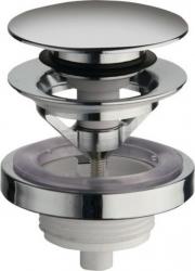 SILFRA - Uzatvárateľná guľatá výpusť pre umývadla s prepadom Click Clack,V 5-60mm,tichý,c (UD850S51)