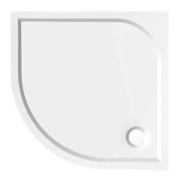 AQUALINE - SEMI 90 sprchová vanička z liateho mramoru, štvrťkruh, 90x90x3 cm, R55 (HQ559R)