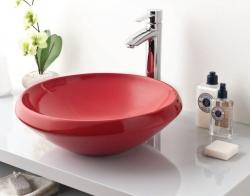 SAPHO - MINIMAL umývadlo guľaté 45x16 cm, na dosku, červená (MN045.70000) (MN045-00KI), fotografie 2/1