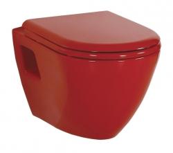 SAPHO - PAULA WC závesné 35,5x50cm, červená (TP325.70100) (TP325-11KI)