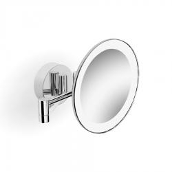 SAPHO - Závesné kozmetické zrkadielko s LED osvetlením, priemer 200mm, chróm (BL715)