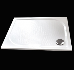 Aquatek - Bent 100x80cm sprchová vanička z litého mramoru obdélníková s protiskluzovou úpravou (BENT10080)