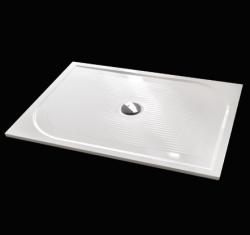 Aquatek - Bent 120x90cm sprchová vanička z litého mramoru obdélníková s protiskluzovou úpravou (BENT12090)
