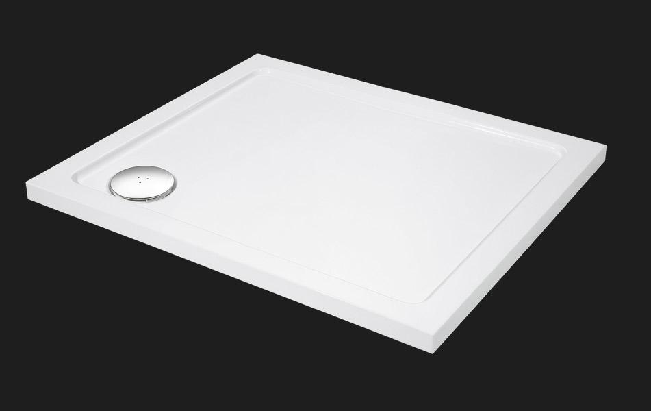 Aquatek - SMC 100x80cm sprchová vanička z tvrzeného polymeru , doplňky čelní krycí panel (SMC10080-23)