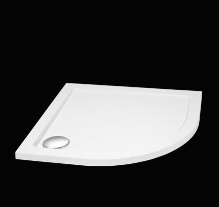 Aquatek - SMC 90x90cm sprchová vanička z tvrzeného polymeru čtvrtkruhová (SMC90)