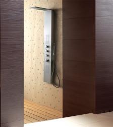 Aquatek - Dubai Hydromasážní sprchový panel , baterie termostatická, způsob montáže na zeď (Dubai-256)