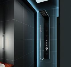 Aquatek - Hawai Hydromasážní sprchový panel s vodopádem, baterie mechanická, způsob montáže na zeď (Hawai-246)