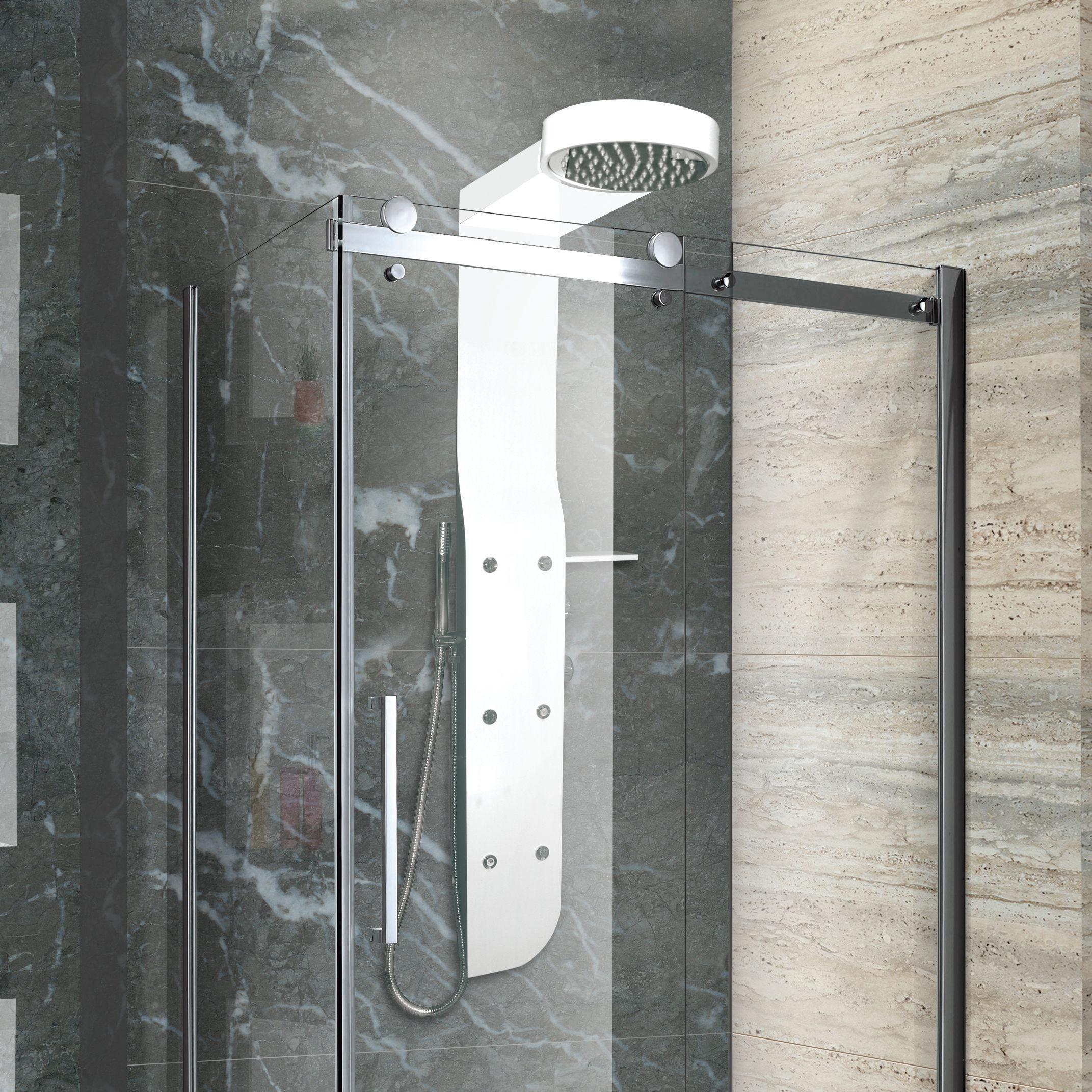 Aquatek - KRETA Hydromasážní sprchový panel, baterie termostatická (Kreta-25)
