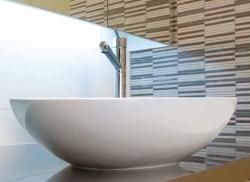 Aquatek - OVAL1 keramické umyvadlo 52,5 x 41 x 17 cm (OVAL1)