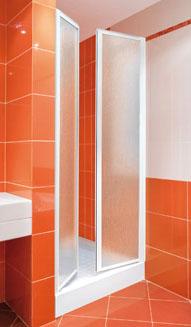Aquatek - LUX B2 85 - Sprchové dvere dvojkrídlové 81- 86 cm, výplň sklo - grape LUXB285-19