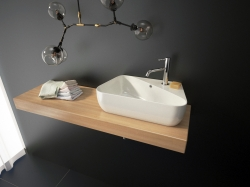 Aquatek - DORA keramické umyvadlo 45x27x13 cm, varianta levá (DORA -13)