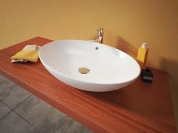 Aquatek - MARS oválné keramické umyvadlo 63x15x41,5cm (MARS)