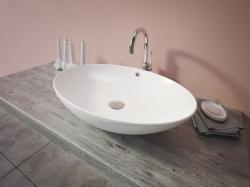 Aquatek - SIENA oválné keramické umyvadlo 63x14x42,5cm (SIENA)