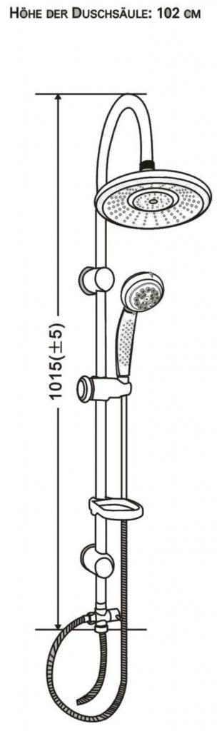 Eisl - Sprchový set bez batérie-letný dážď (HKDX1005CS)