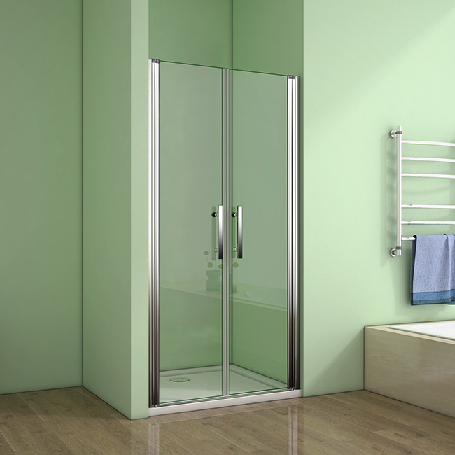 H K - Sprchové dvere MELODY D2 70 dvojkrídlové 66-70 x 195 cm, číre sklo SE- MELODYD270
