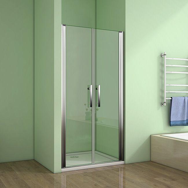 H K - Sprchové dvere MELODY D2 90 dvojkrídlové 86-90 x 195 cm, výplň sklo - číre SE- MELODYD290-06