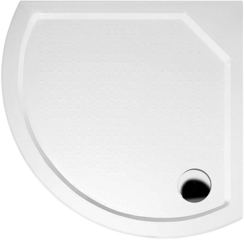 GELCO - DITA80 sprchová vanička z liateho mramoru, štvrťkruh 80x80x4cm, R590 (GD608)