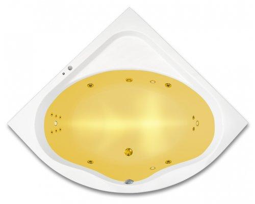 ARTTEC - GAIA SURF + CHROMO 150x150 hydromasážní akrylátová vana (PAN04361)