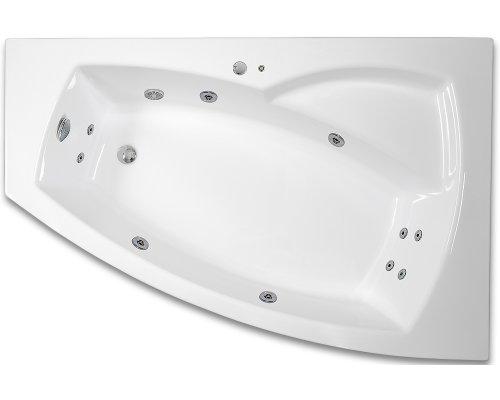 ARTTEC - THALEILA SURF 160 x 105 hydromasážní akrylátová vana LEVÁ (PAN04404)