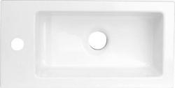 SAPHO - LATUS umývadlo 45x2x23cm, liaty mramor, biele (55510)