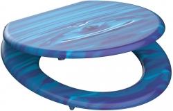 Eisl - Wc sedátko Blue drop MDF se zpomalovacím mechanismem SOFT-CLOSE (80125 blue drop)