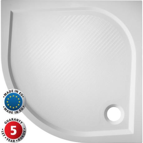 Čtvrtkruhová sprchová vanička SOFIA - 800 x 800 x 30 mm R550, včetně panelu (výška 11 cm) (VANKSOF80N+VANKSOF80P)