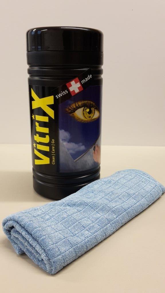 Čistící utěrky v praktickém boxu Amstutz Vitri X (EG609)