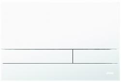 JOMO - TLAČIDLO EXCLUSIVE 2.1 RÁMČEK CHROM-MAT 2.0 / SKLO BIELE MATNÉ (167-39001180-00)