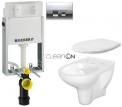 AKCE/SET/GEBERIT - SET KOMBIFIXBasic vrátane ovládacieho tlačidla DELTA 50 CR pre závesné WC CERSANIT ARTECO CLEANON (110.100.00.1 50CR AT2)