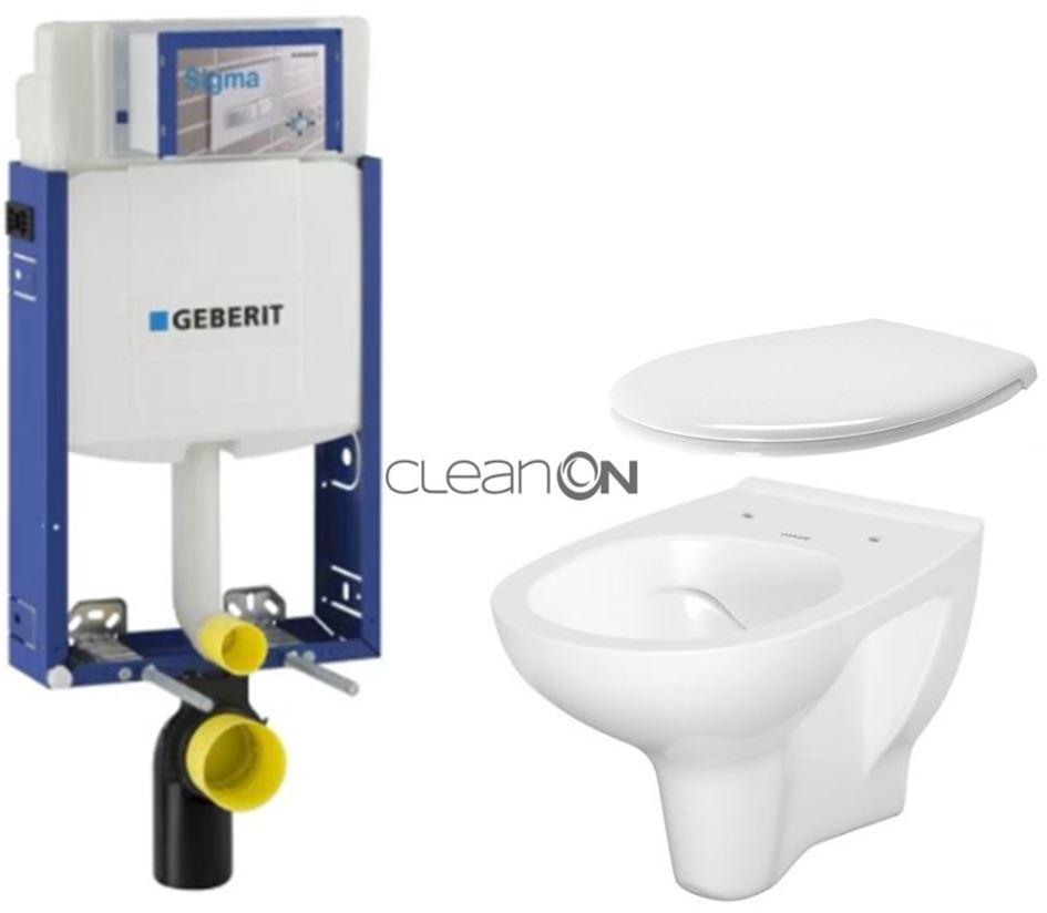 /SET/GEBERIT - SET Kombifix KOMBIFIX ECO pre závesné WC, nádržka UP 320 bez Ovládacie dosky + WC CERSANIT ARTECO CLEANON + SEDADLO (110.302.00.5 AT2)