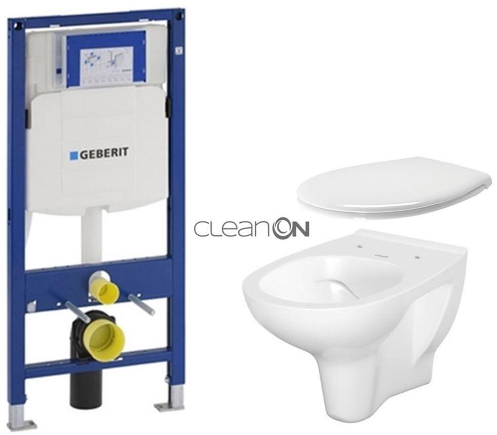 GEBERIT Duofix bez ovládacej dosky + WC CERSANIT ARTECO CLEANON + SEDADLO 111.300.00.5 AT2