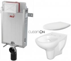 ALCAPLAST  Renovmodul - predstenový inštalačný systém bez tlačidla + WC CERSANIT ARTECO CLEANON + SEDADLO (AM115/1000 X AT2)