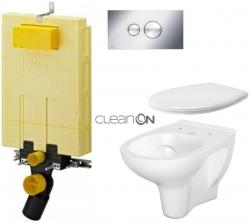 AKCE/SET/VIEGA - SET MONO modul WC čelné ovládanie + ovládacie tlačidlo CHRÓM + WC CERSANIT ARTECO CLEAN ON + SEDADLO (V606732CR AT2)