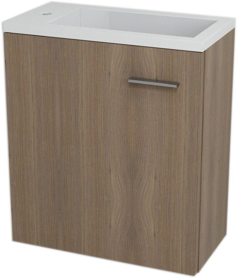 SAPHO - LATUS III umývadlová skrinka 45x50x23,2cm, orech bruno + umývadlo liaty mramor 55510 (55548-SET)