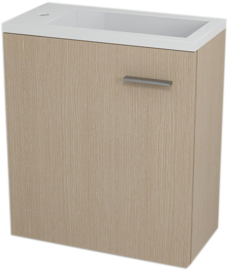 SAPHO - LATUS III umývadlová skrinka 45x50x23,2cm, dub benátsky + umývadlo liaty mramor 55510 (55549-SET)