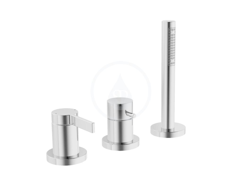 HANSA - Loft Sprchová 3-otvorová batéria, chróm (57799073)