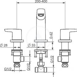 HANSA - Polo Vaňová 3-otvorová batéria, chróm (52942001), fotografie 4/3