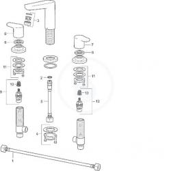 HANSA - Polo Vaňová 3-otvorová batéria, chróm (52942001), fotografie 6/3