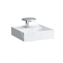Laufen - Kartell Umývadielko, 460mmx460mm, biela – 1 otvor na batériu, stredový (H8153310001041)