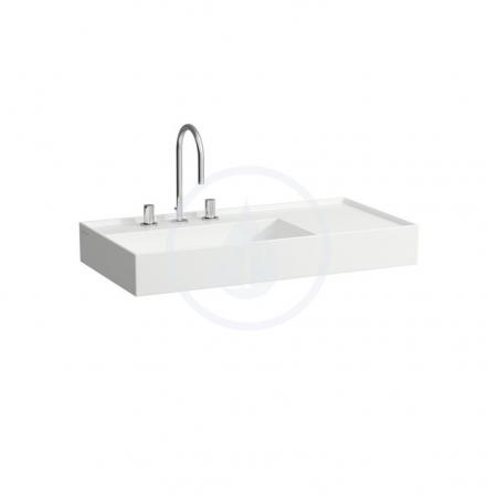 Laufen - Kartell Umývadlo, 900mmx460mm, biela – 1 otvor na batériu, stredový (H8103380001041)