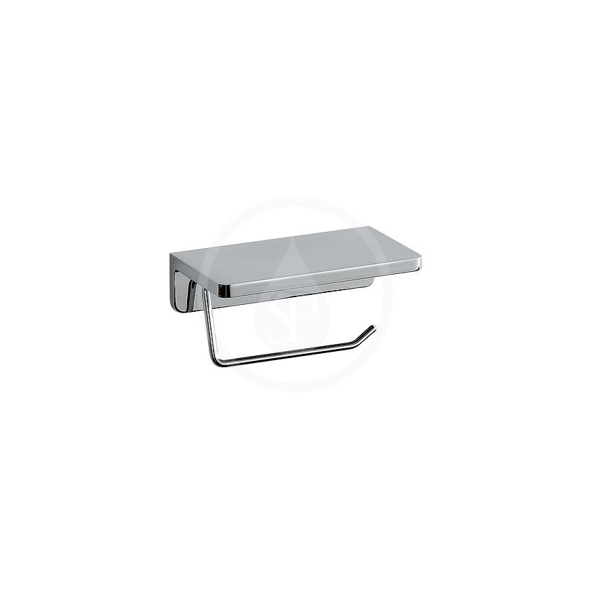 Laufen - LB3 Držiak toaletného papiera s poličkou, chróm (H3836810040001)