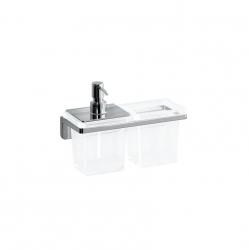 Laufen - LB3 Držiak na pohár a zásobník na mydlo, sklo/chróm (H3846850040001)