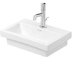 DURAVIT - 2nd floor Jednootvorové umývadielko bez prepadu, 400 mm x 300 mm, biele (0790400000)
