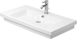 DURAVIT - 2nd floor Umývadlo s prepadom, 800 mmx500mm, biele – jednootvorové umývadlo, s WonderGliss (04918000001)