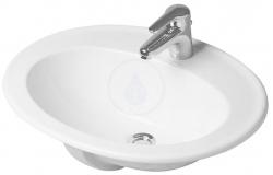 DURAVIT - Duraplus Umývadlo s prepadom, 615 mmx495 mm, biele – jednootvorové umývadlo, s WonderGliss (04726200001)