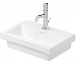 DURAVIT - 2nd floor Umývadielko bez prepadu, 400 mmx300 mm, biele – jednootvorové umývadielko, brúsené (0790400071)