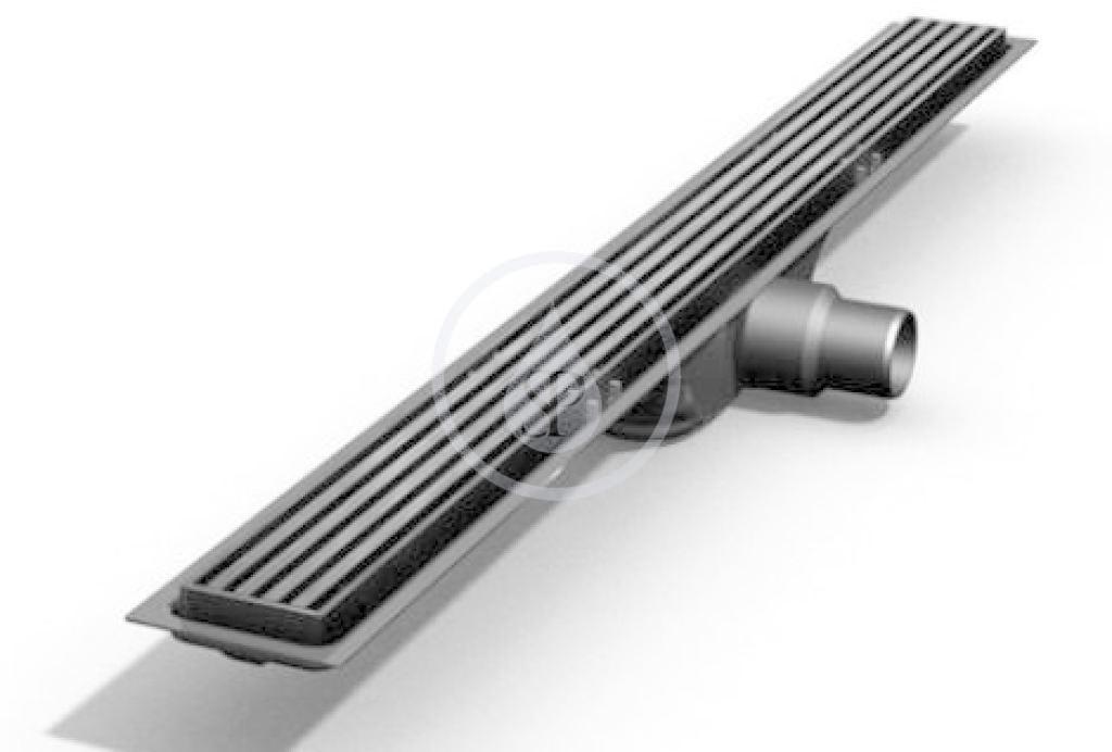Technic Rošt z nehrdzavejúcej ocele na sprchový žľab Technic matný, dĺžka 600 mm (IDRO0600D)
