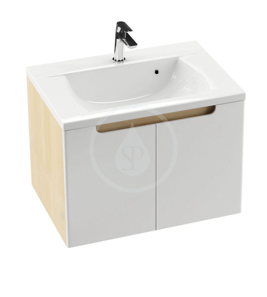 RAVAK - Classic Skrinka pod umývadlo 800x490x470 mm, breza/biela (X000001094)