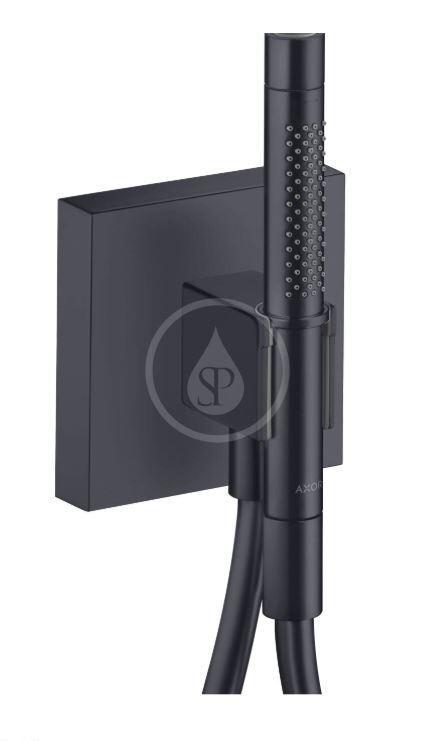 AXOR - Starck Ručná sprcha, 2 prúdy, s držiakom sprchy Porter 120/120 a hadicou, matná čierna (12626350)