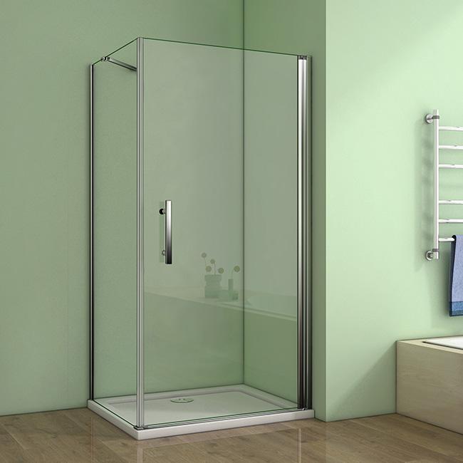 Čtvercový sprchový kout MELODY A1 90 cm s jednokřídlými dveřmi včetně sprchové vaničky z litého mramoru (SE-MELODYA190/SE-ROCKY-90SQ)